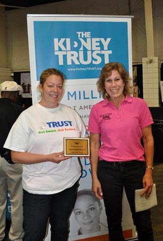 The Kidney Trust won the award for Best Health Message