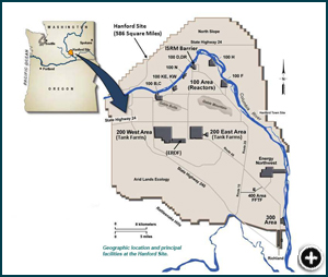 Map of Hanford